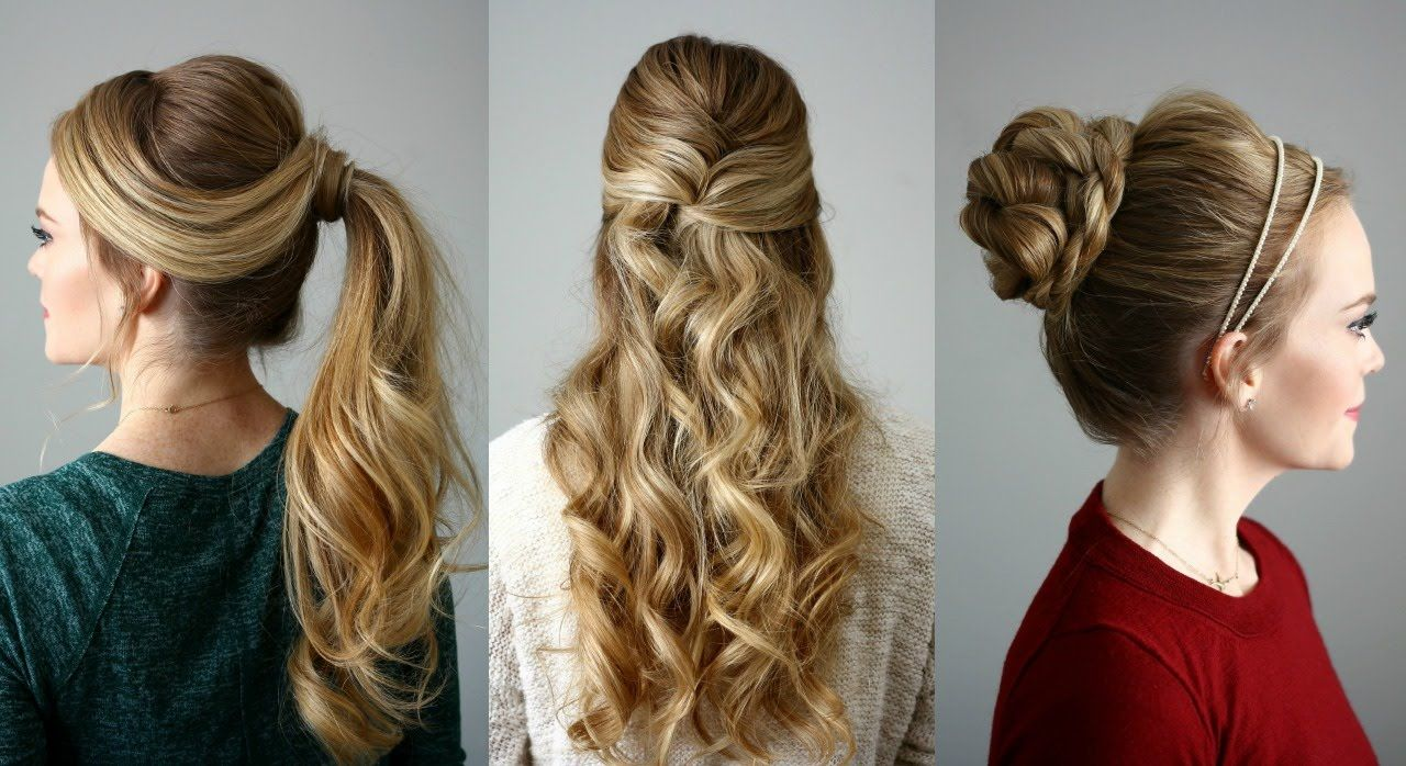 Three Fancy Hairstyles For Long Hair You Can Do In Five